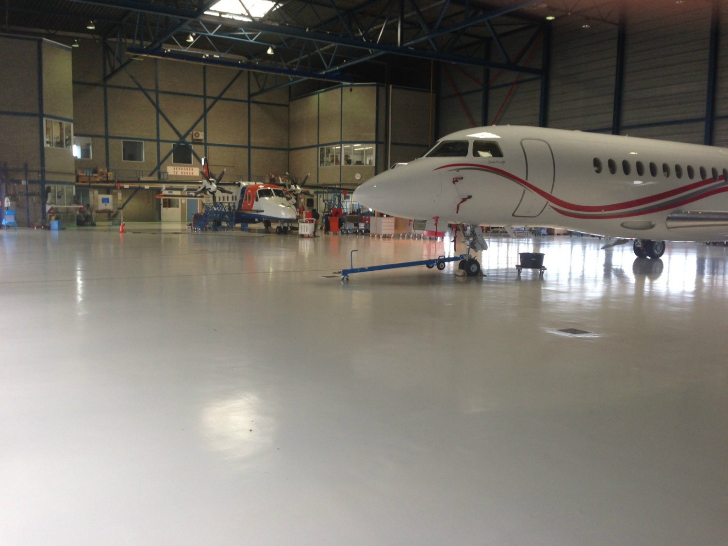 coating in hangar